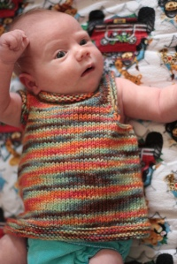 Simple baby vest from ravelry.com
