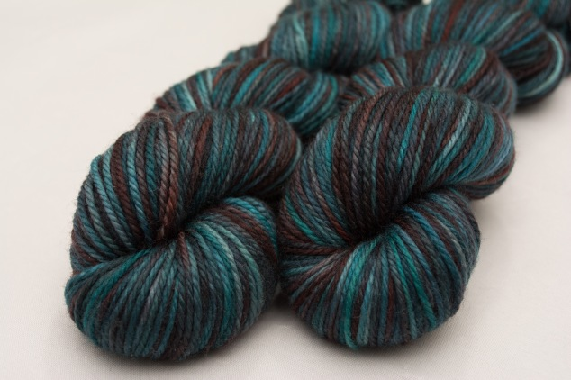 I bought two skeins of this delightful colourway too ! I think a pullover for next winter will come out of this for either Elias or Ishaq. I've got some pretty yarn to match for a trim.